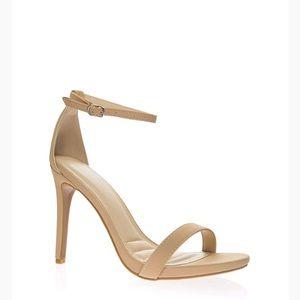 Tan strap heels